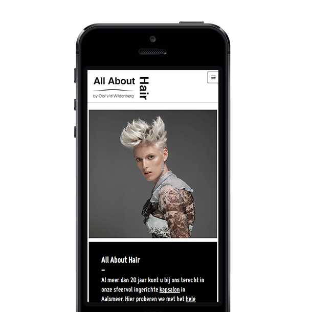 All About Hair is volledig responsive